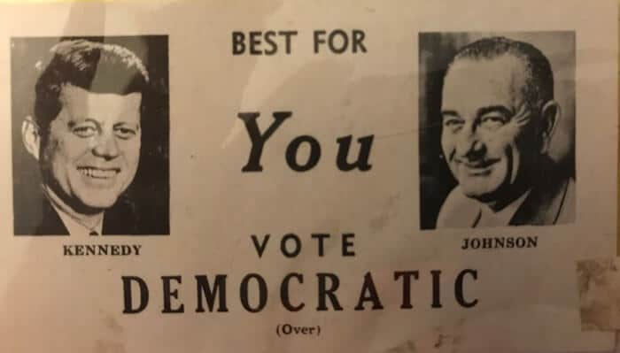 Kennedy Johnson Ticket 1960