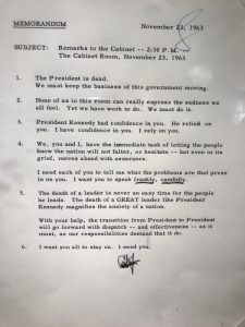 LBJ Remarks to the Cabinet