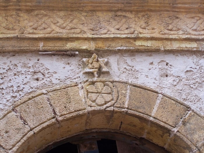 Star of David in the old Jewish section