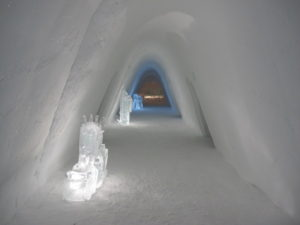 Places we Have Slept Snow Hotel Hallway
