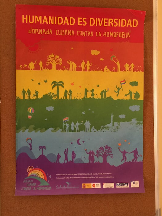 Cuba Itinerary CENESEX anti-homophobia ad