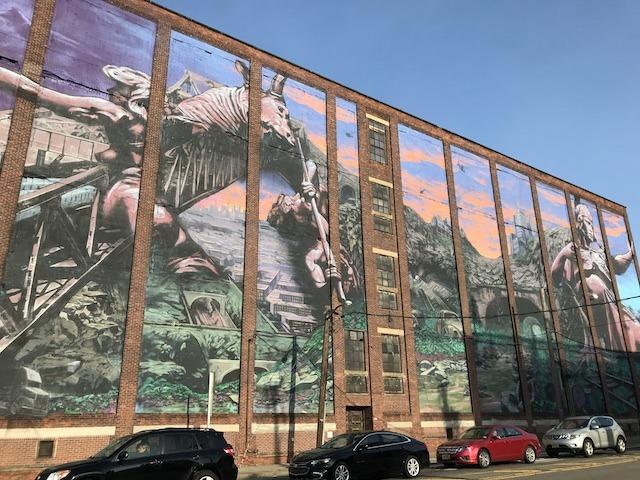 Jersey City Street Art Mural by Distort