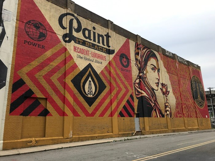 Jersey City Street Art Mural by Shepard Fairey