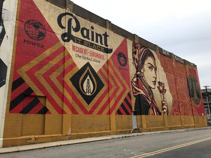 Jersey City Street Art Mural by Shepard Fairey