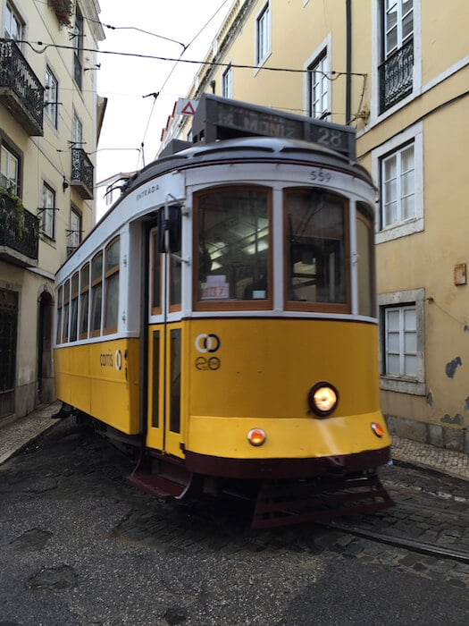 Lisbon Tram 28 Turning the Corner