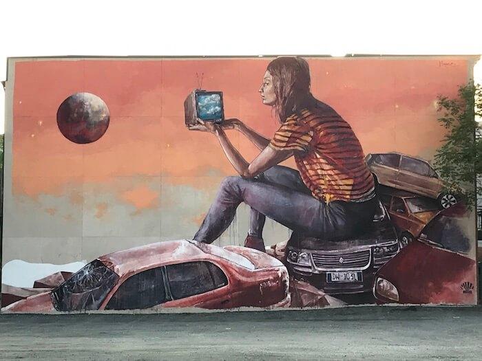 Jersey City Street Art Mural by Fintan McGee