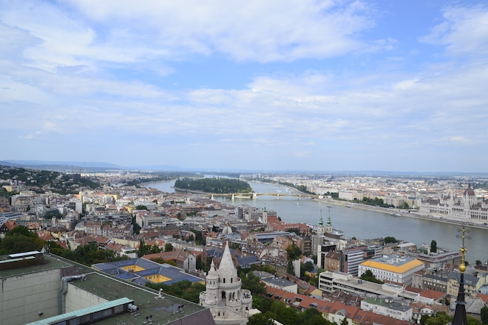 View from Buda Tower. Magdalena Church Bell Tower. Best of Budapest 4 Day Itinerary