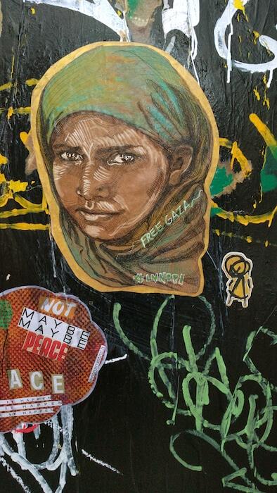 Free Gaza LA by Mural Artist LMNOPi
