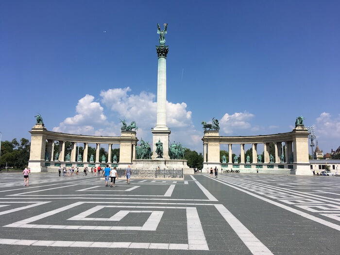 Heroes' Square. Best of Budapest 4 Day Itinerary