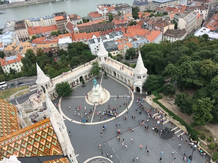 View from Matthias Church Bell Tower. Best of Budapest 4 Day Itinerary