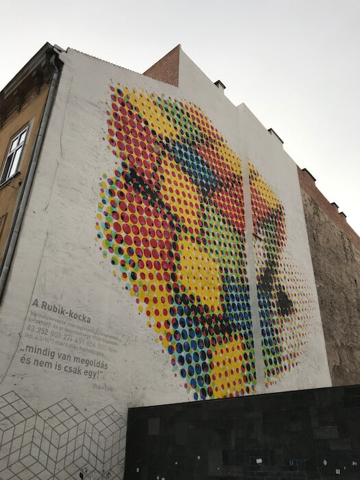 Rubic's Cube Street Art. Best of Budapest 4 Day Itinerary
