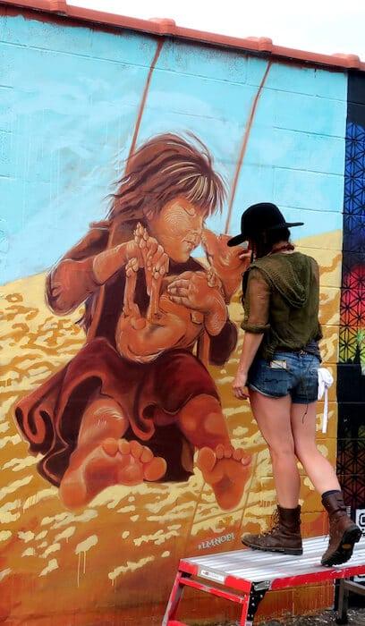 Morningstar by Mural Artist LMNOPi