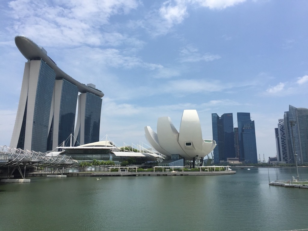 Marina Bay sands and ArtScience Museum Crazy Rich Asians Singapore