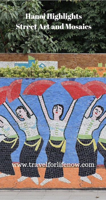 Hanoi has the longest mosaic in the world. 6.5 Kilometers (4 miles). Murals with Optical Illusions. Hanoi Highlights. Street Art, Murals & Mosaics. #travelforlifenow #visithanoi #streetart