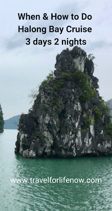Halong Bay is an amazing UNESCO World Heritage Site with unusual limestone rock formations. Find out how many days you need for a cruise. 5 tips for having the perfect trip. Halong Bay Cruise 3 Days 2 Nights #travelforlifenow #visithalongbay