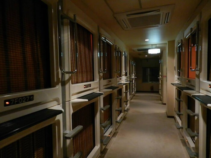 Tokyo Capsule Hotel. Photo by Mike 197 Stamps