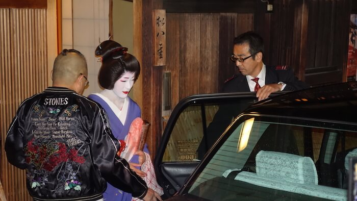 Geisha in Gion. Photo by Melissa Smuzynski, Parenthood and Passports