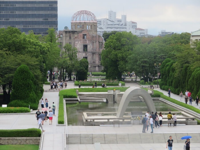 Hiroshima Peace Memorial Park. Photo by Sally Lucas, our3kidsvtheworld