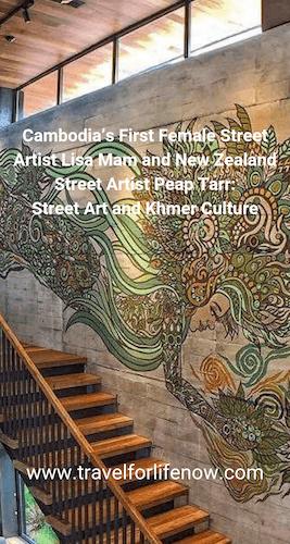 Meet Lisa Mam, Cambodia's first Female Street Artist & Peap Tarr, New Zealand/Cambodia Street Artist for a conversation about Street Art & Khmer Culture. #travelforlifenow #streetart #CambodiaUrbanArt #firstFemaleCambodianStreetArtist