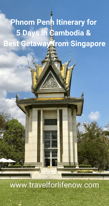 Best Phnom Penh Itinerary for 5 days in Cambodia. Best Getaway from Singapore & Other Asian Cities. Royal Palace. Genocide Museum. Khmer Culture and Food. #visitPhnomPenh #travelforlifenow