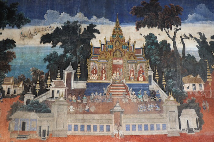 Mural at Royal Palace. Phnom Penh Itinerary for 5 Days in Cambodia & Best Getaway from Singapore