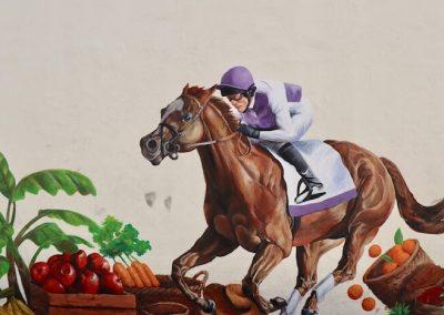 Race Horse Road Mural