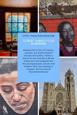 Newark NJ has art, culture, parks & more. 12 Best Things to do in Newark NJ. NJPAC, Newark Art Museum, Military Park & Gateways to Newark Street Art. #visitnewarknj #travelforlifenow