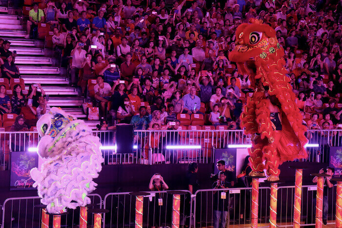 Lion Dance on Poles at the Chingay Parade