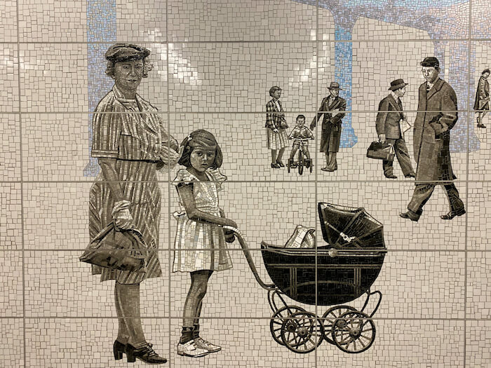 Jean Shin Mosaic at 63rd & Lexington