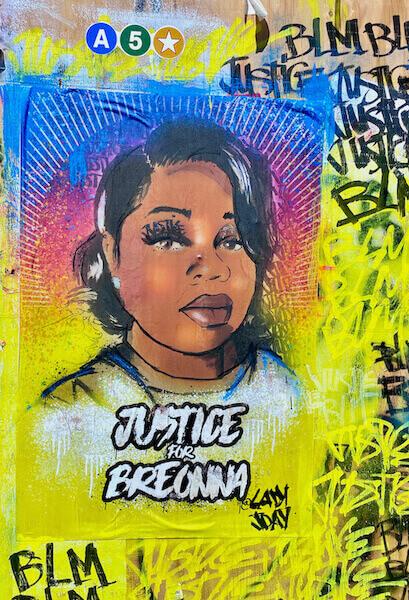 Breanna Taylor Soho Street Art