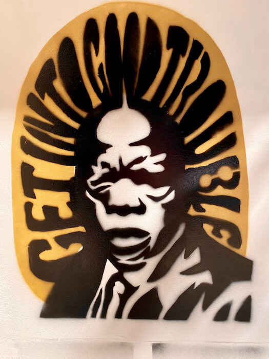 John Lewis Stencil Art Get Into Good Trouble
